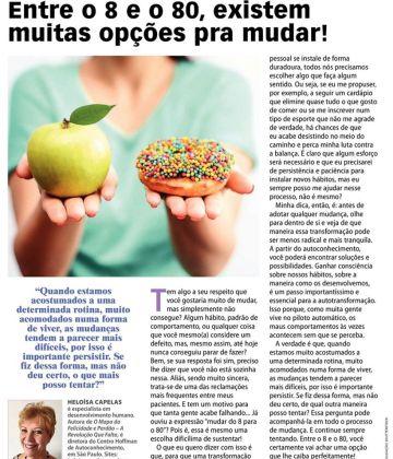 Revista Ana Maria – Entre o 8 e o 80, existem muitas opções!