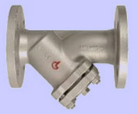 Strainer PN 25/40 Y-type, with flanged ends and drain-plug 1/2 Image
