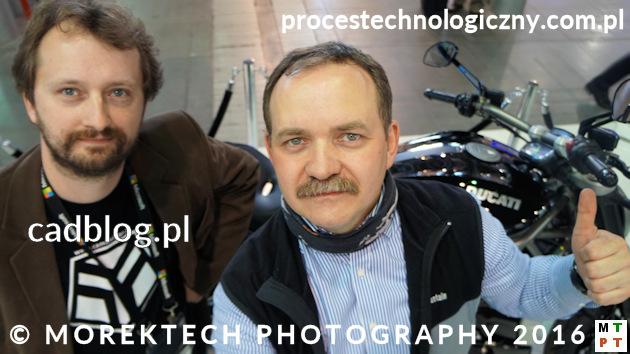 Przemysł 4.0 - Maciej Stanisławski (cadblog.pl) i Radosław Morek (procestechnologiczny.com.pl), targi MACHTOOL 2016