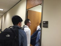 Our group heading into Sen. Tamara Barringer's office to talk with her staff about a full repeal of HB2