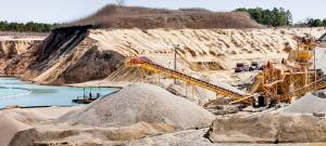 Photo of sand mine in New Jersey.