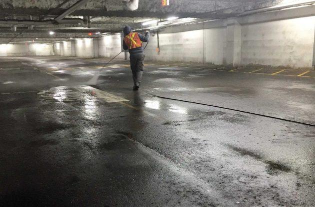 Underground parking cleaning