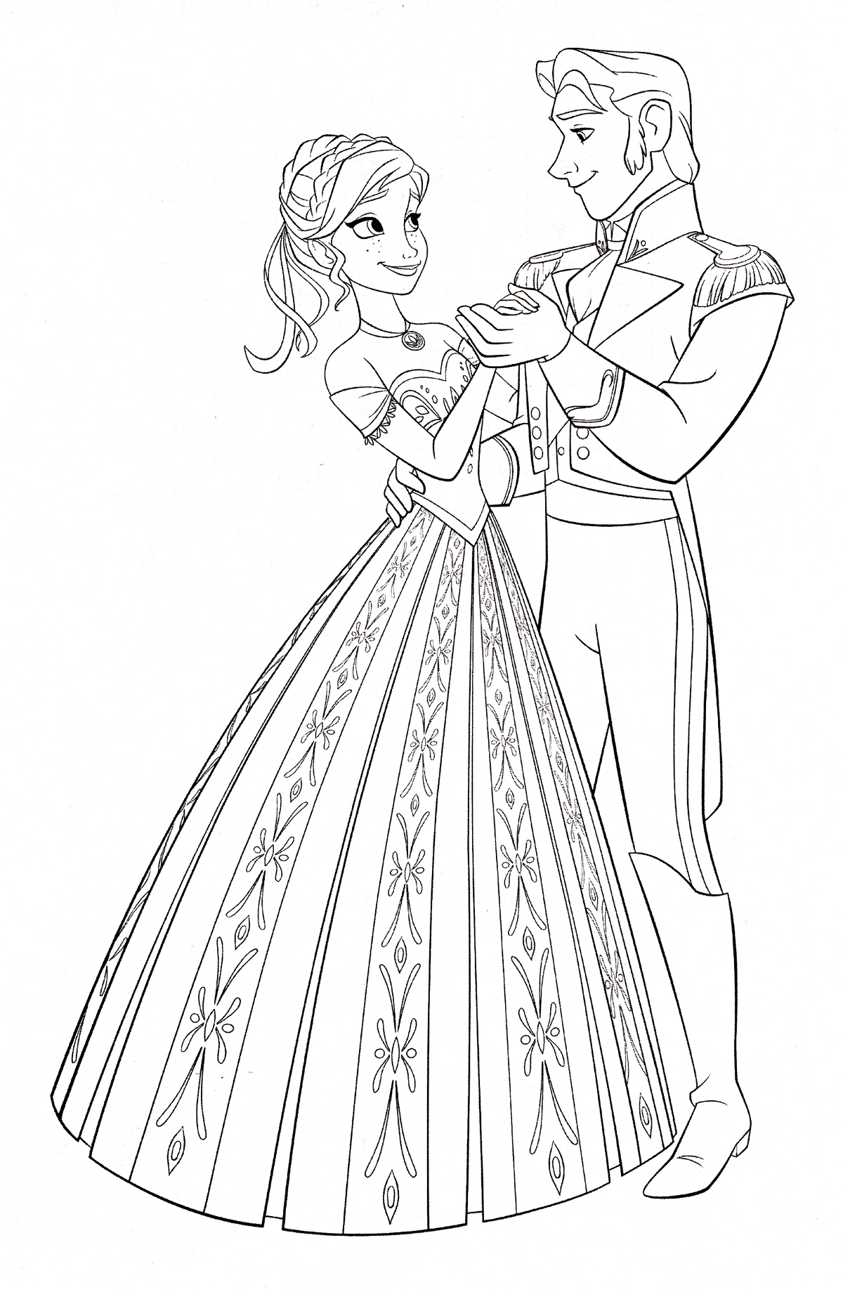 Frozen Easy Coloring Pages