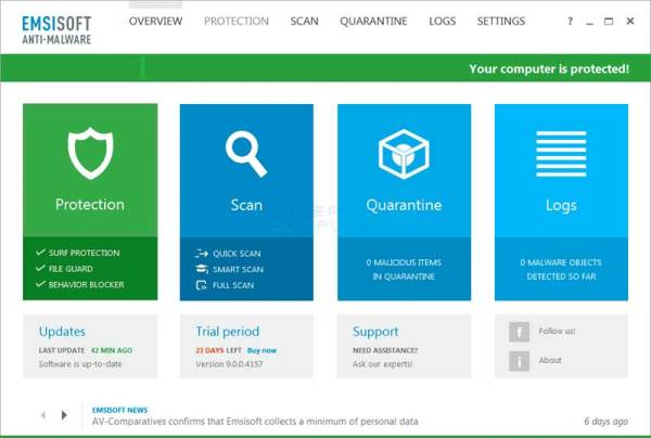 Emsisoft Anti-Malware 2018.4.0.8631 Crack & License Key Download