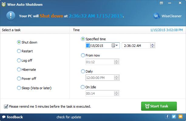 Wise Auto Shutdown 1.65.87 2018 Crack & Serial Keys Download