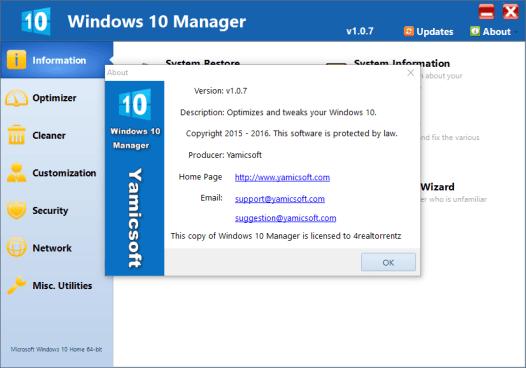 Windows 10 Manager 2.2.5 Crack & Serial Key Download Windows + Mac