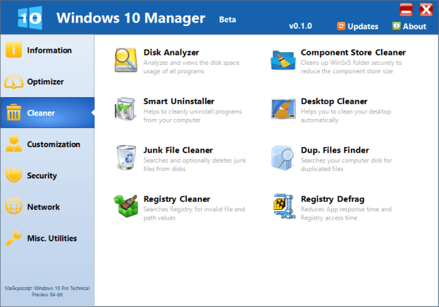 Windows 10 Manager 2.2.5 Crack & Serial Key Download Windows + Mac