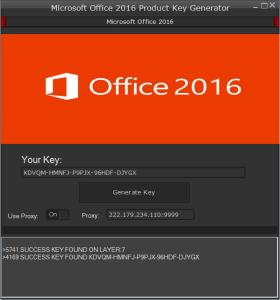 Microsoft Office 2016Product key