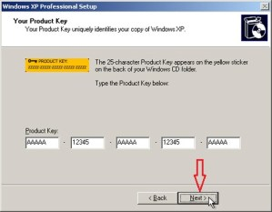 Product Key for Windows XP