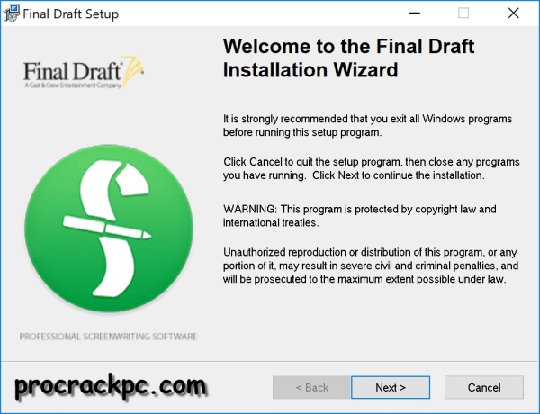 Final Draft Crack With Keygen Torrent 2019 [Win+Mac]