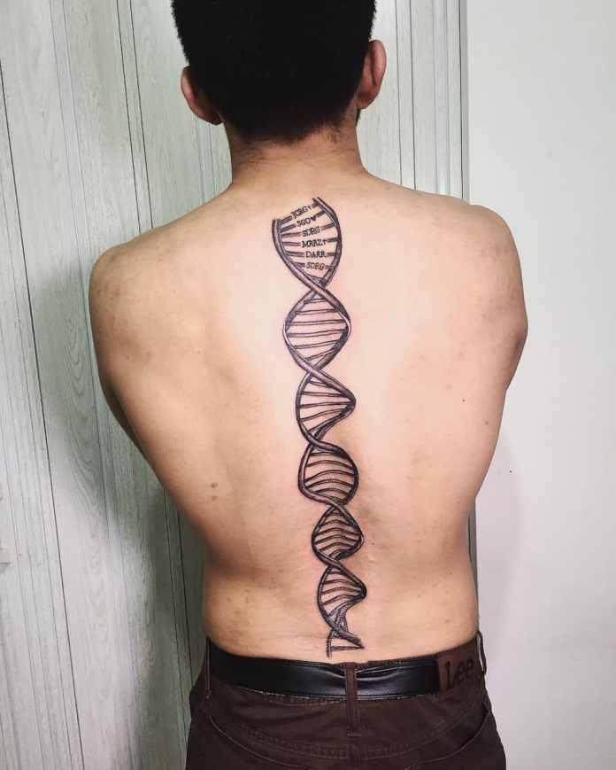 Columna de ADN tatuaje