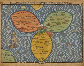 Mapa en forma de trebol
