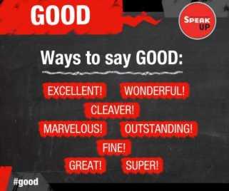 Formas de decir Good en ingles