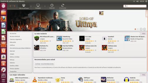 centro software ubuntu