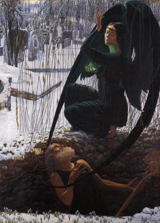 La muerte del sepulturero por Schwabe.