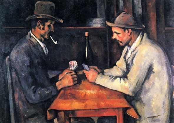 los jugadores de cartas caro