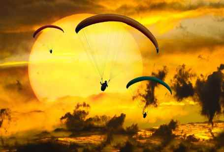 vuelo de parapente