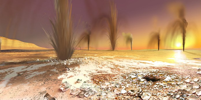 explosiones de co2 en marte