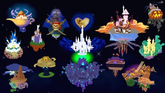 mapa de mundos kingdom hearts
