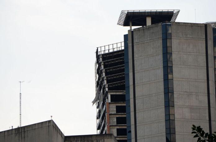inclinación edificio tras sismo