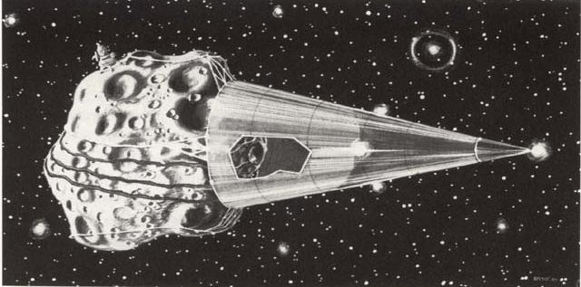 Ilustración Minería Espacial