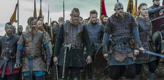 grupo de guerreros vikingos