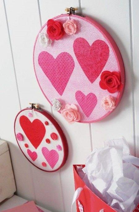 100 Ejemplos de decoración de corazones para paredes