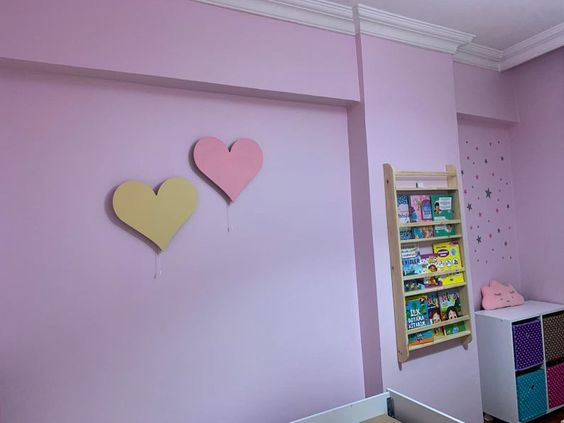 pared de corazones 69