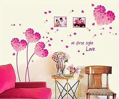 pared de corazones 77