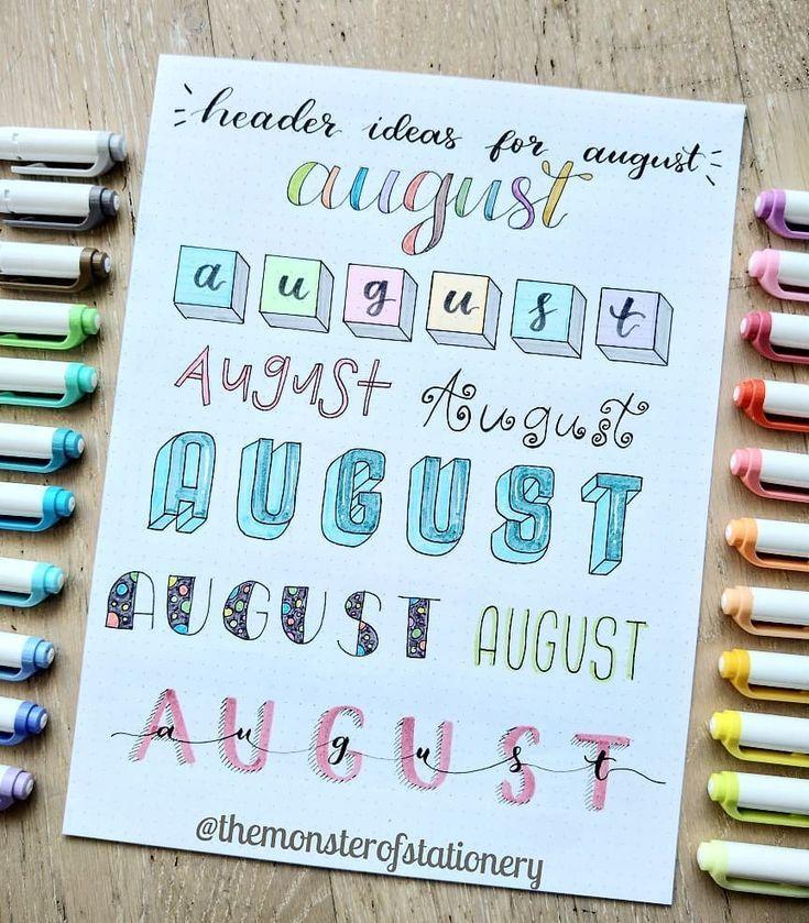 titulos para agosto