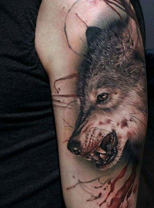 Tatuaje de lobo feroz 3