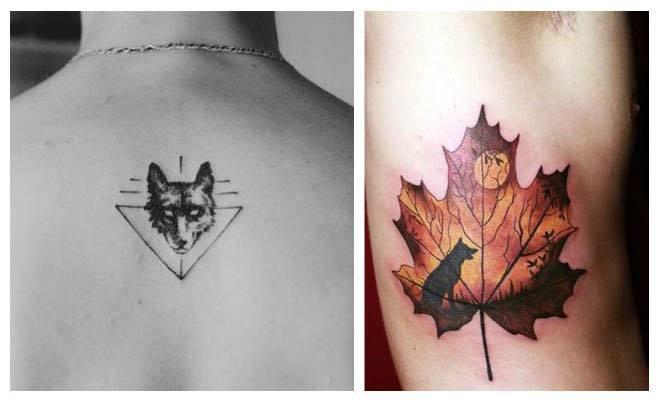 Tatuajes minimalistas de lobos