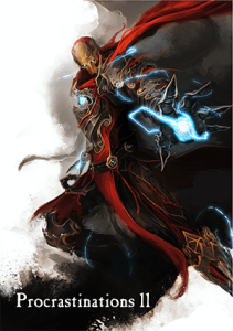 A fantasy/magical reimagining of Iron Man with a billowing cape.