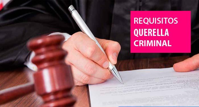 ¿Qué es una querella criminal?