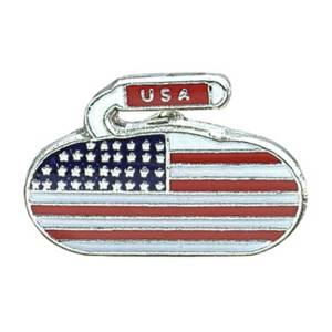 USA Flag Curling Pin