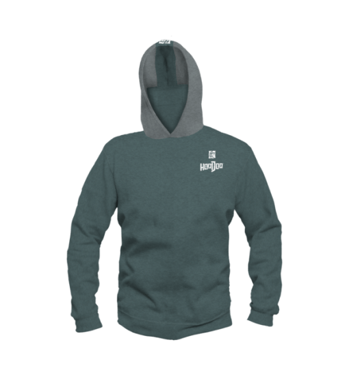 Heathered Performance HooDoo Green