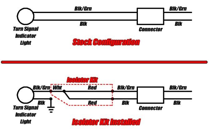 led turn signal isolator installation  procycle