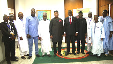 DEPUTY PRESIDENT OF THE SENATE, SENATOR IKE EKWEREMADU, PDP SENATE CAUCUS AND PDP MINORITY LEADERS OF STATE ASSEMBLIES AFTER THEIR MEETING AT THE NATIONAL ASSEMBLY ON WEDNESDAY