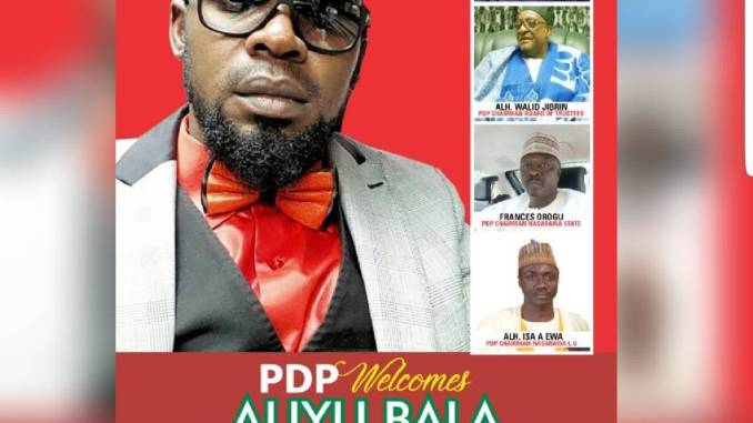 APC Losses Piller In Nasarawa State....... As Hon. Aliyu Bala Tafida Moves PDP