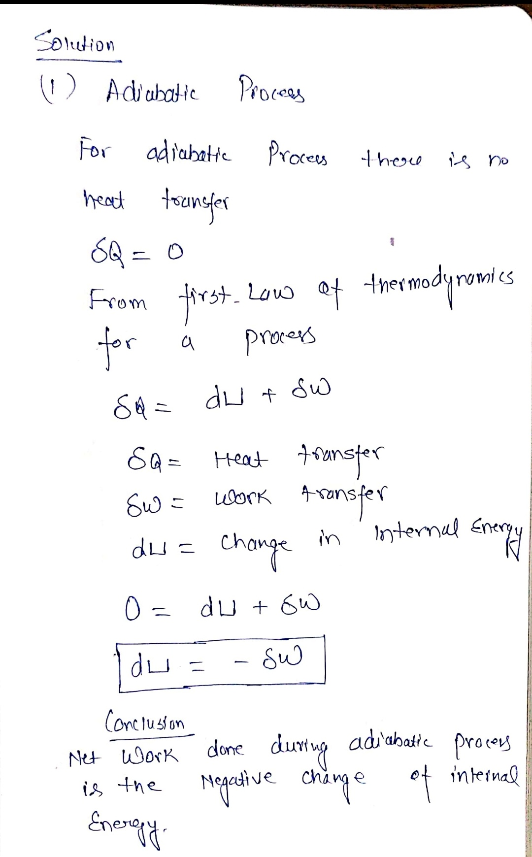 Answered Apply The First Law Of Thermodynamics