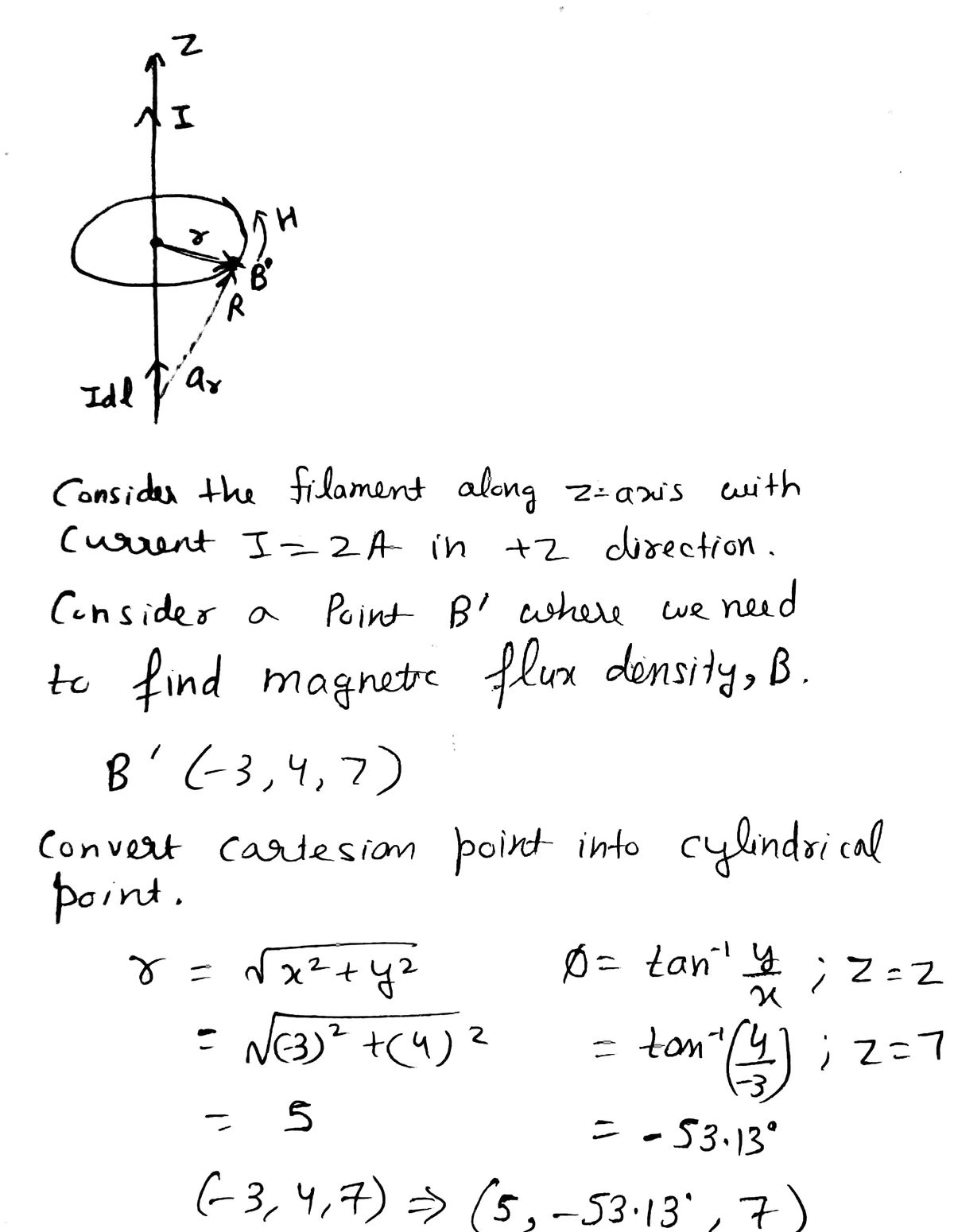 Answered Q3 An Infinite Long Filamentary Wire