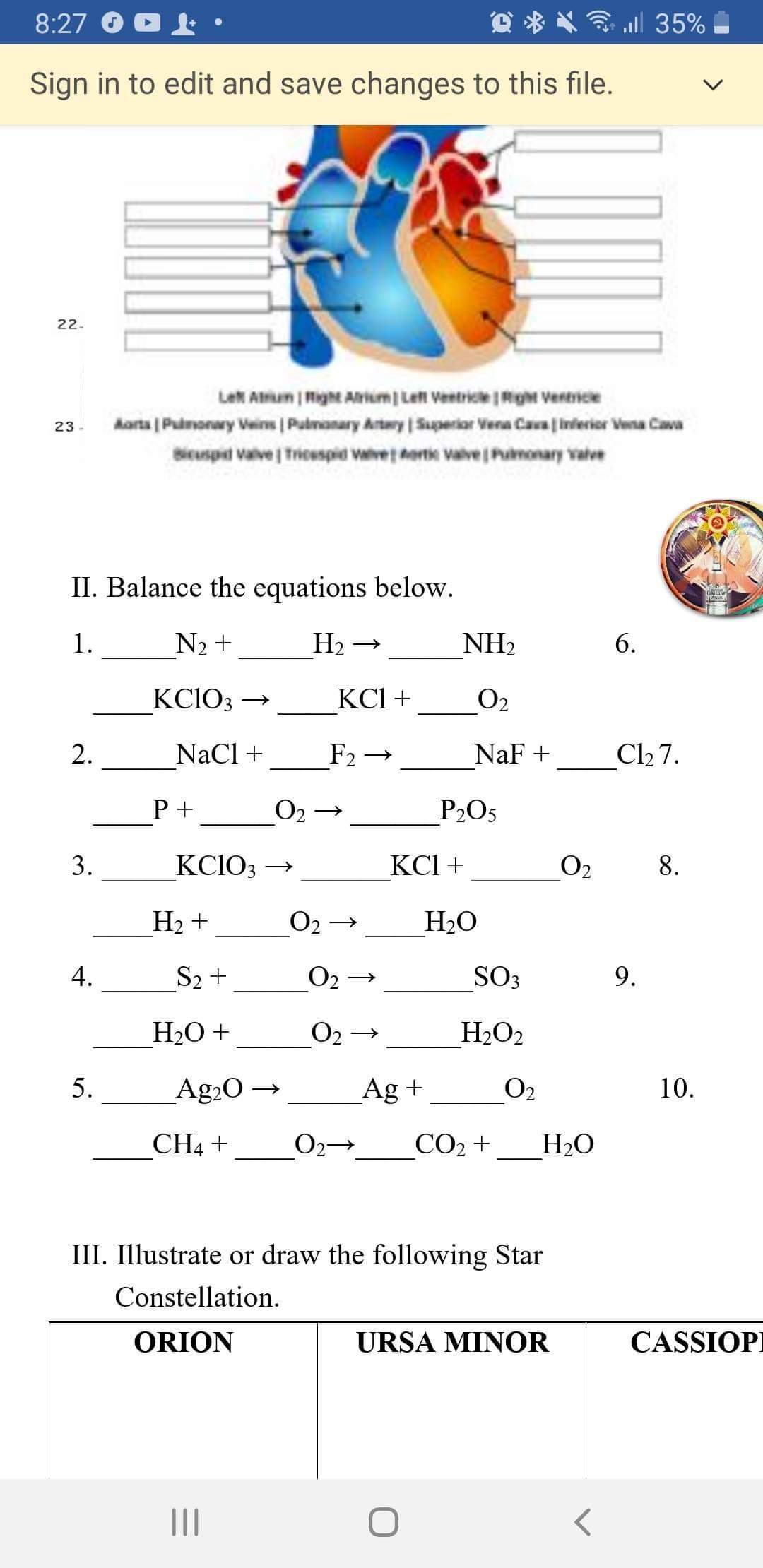Answered Ii Balance The Equations Below 1 N2
