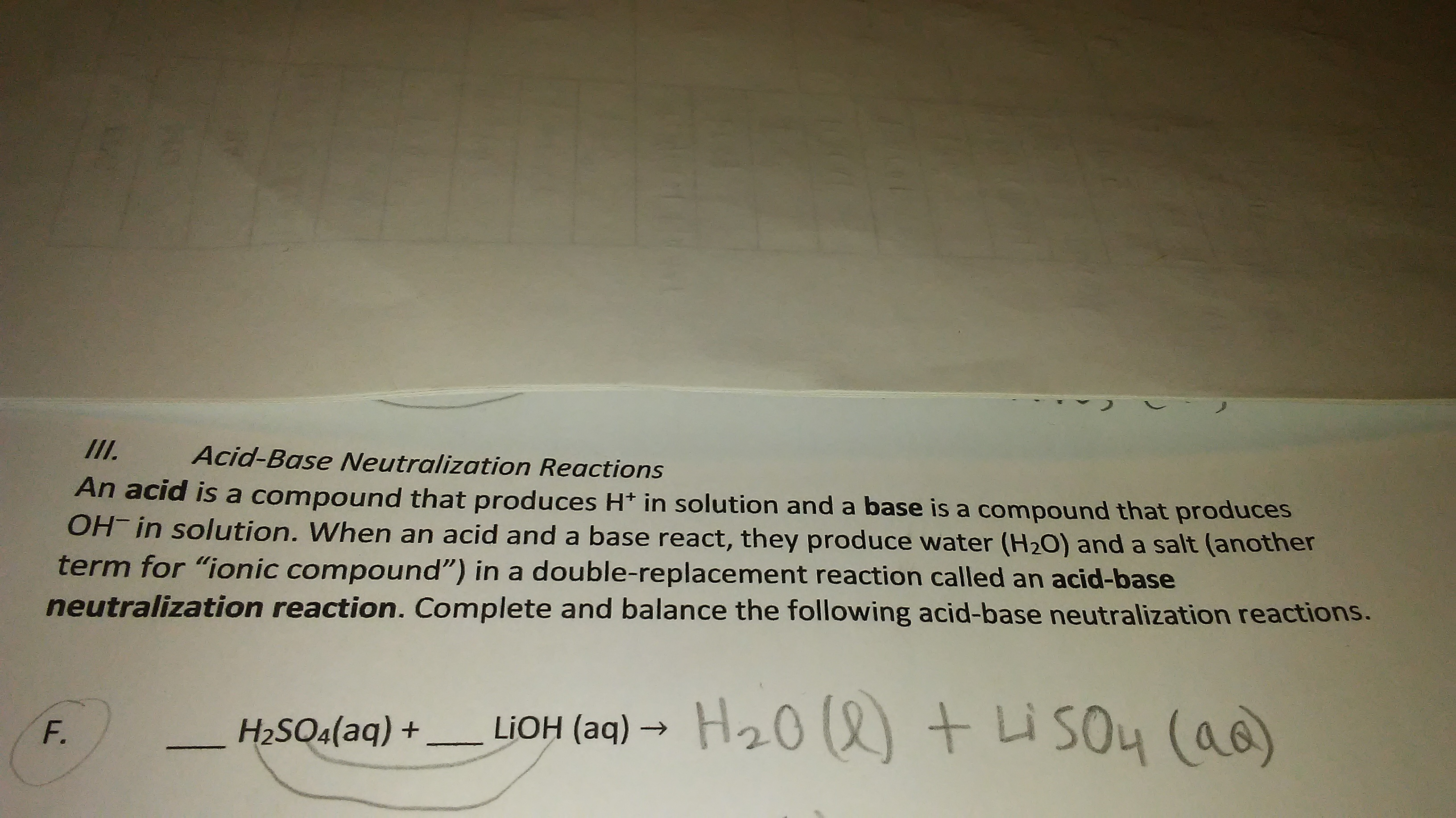 Answered Veuranzuion Reaeetotns An Acid Is A