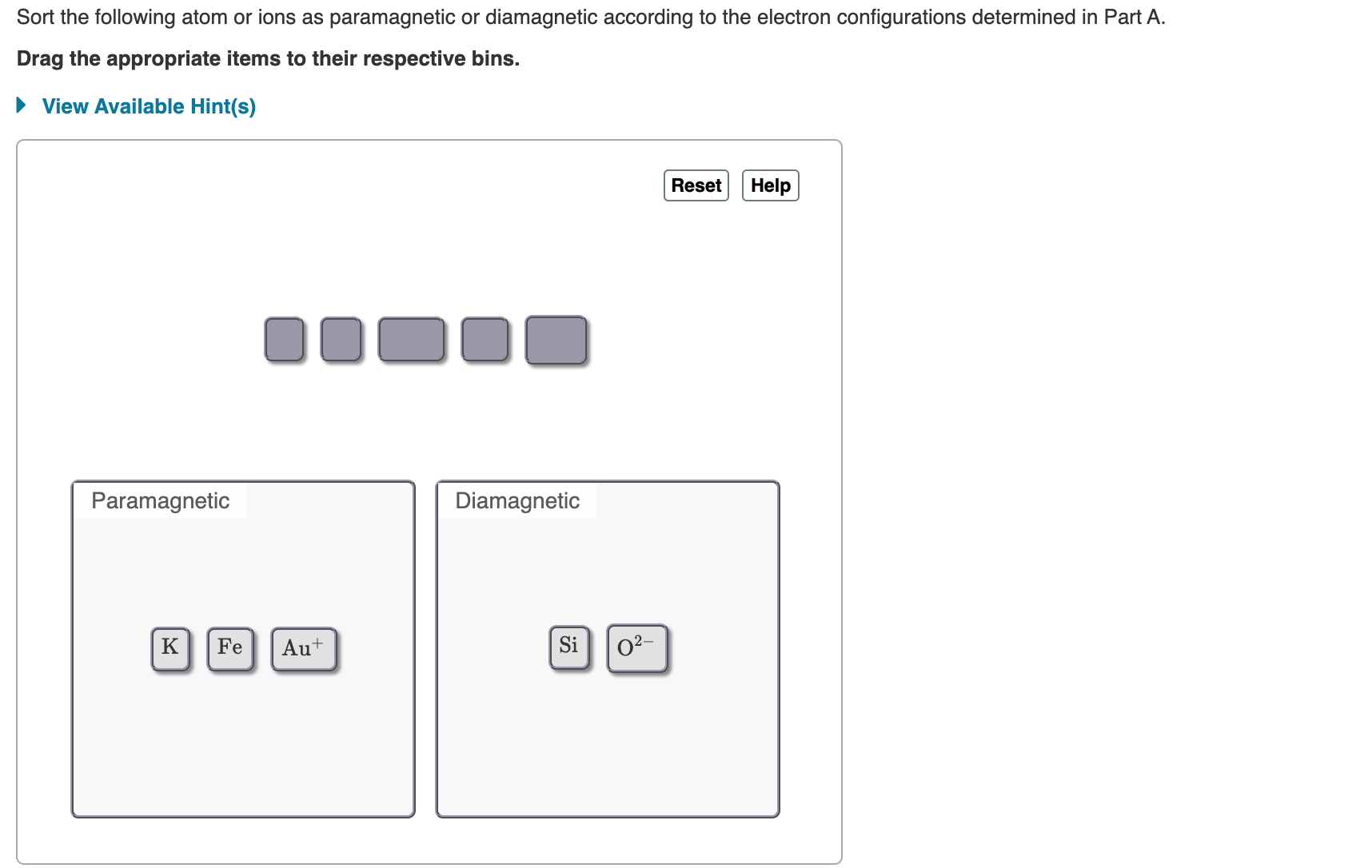 Answered Sort The Following Atom Or Ions As