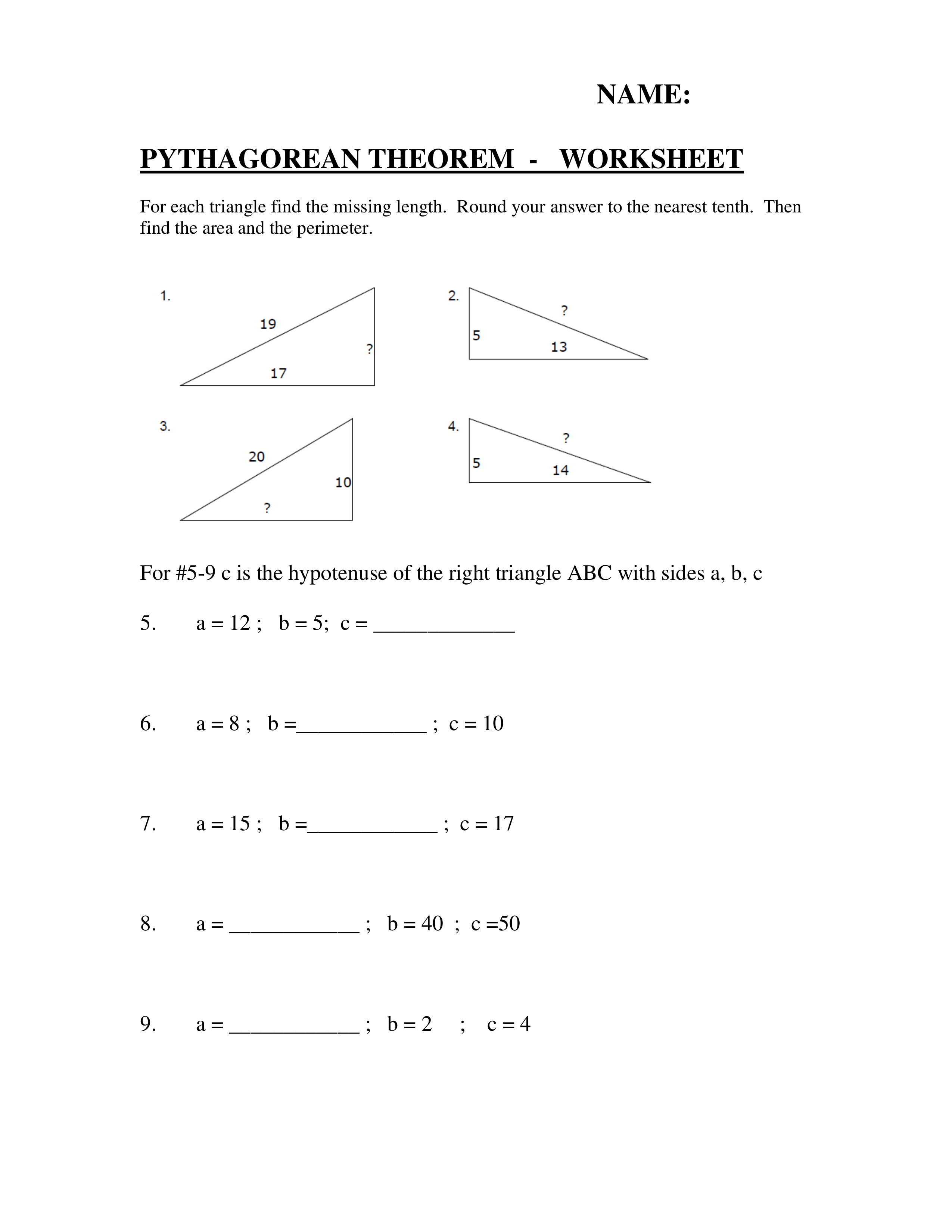 Answered Pythagorean Theorem