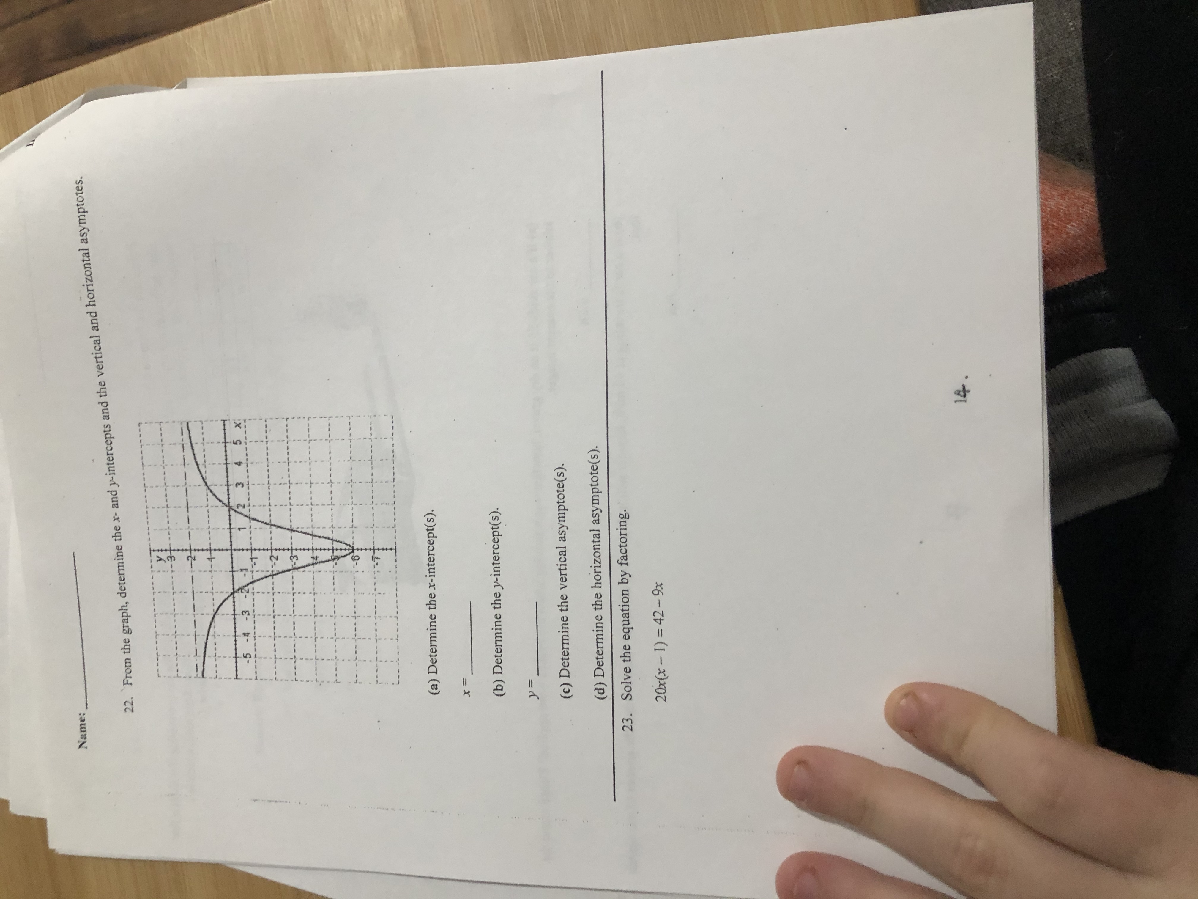Answered Name 22 From The Graph Determine The