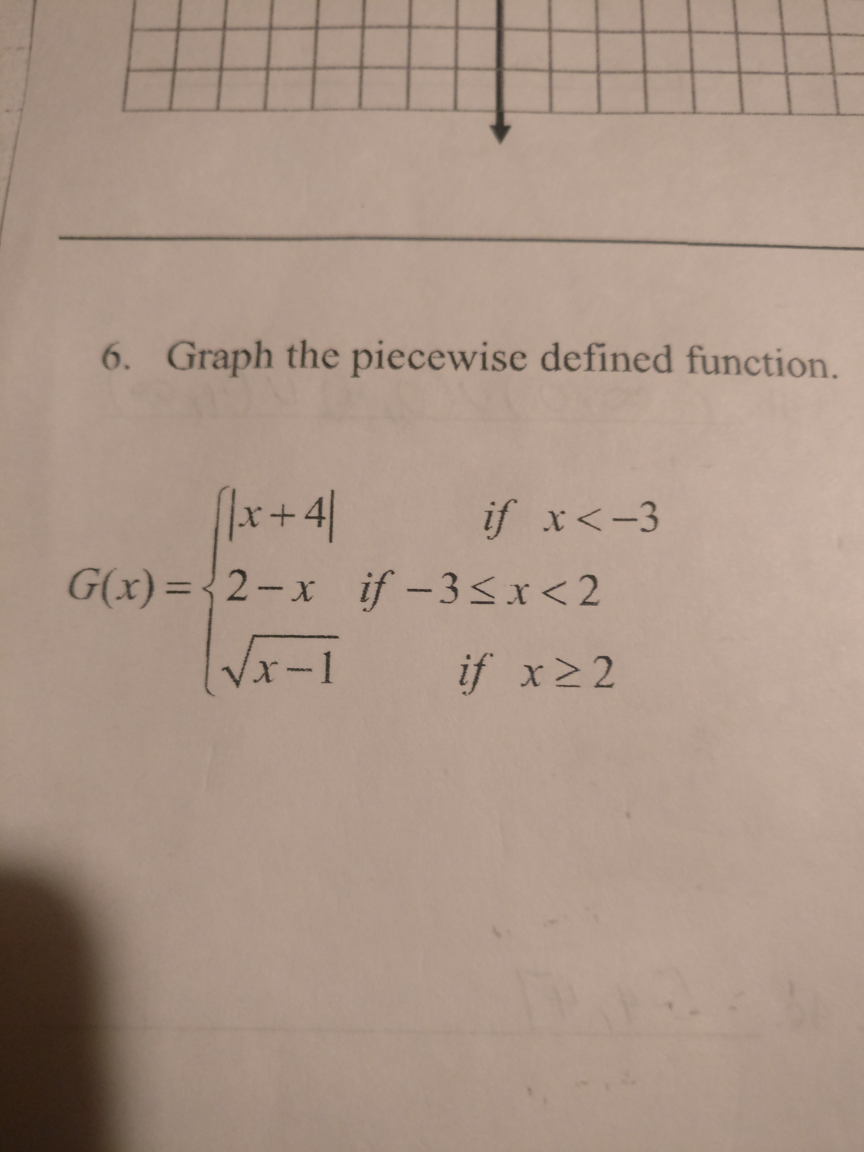 Answered 6 Graph The Piecewise Defined
