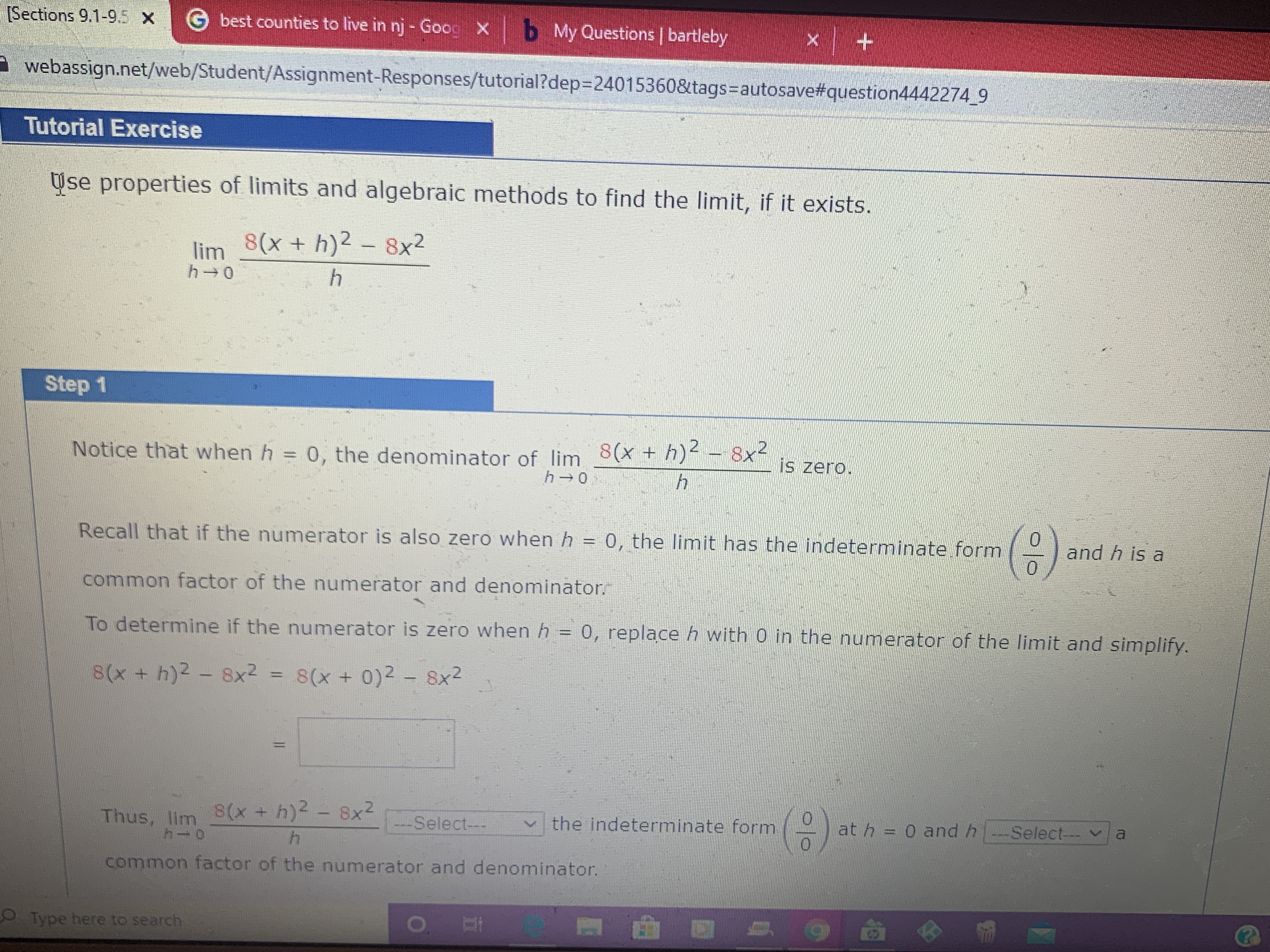 Answered Use Properties Of Limits And Algebraic