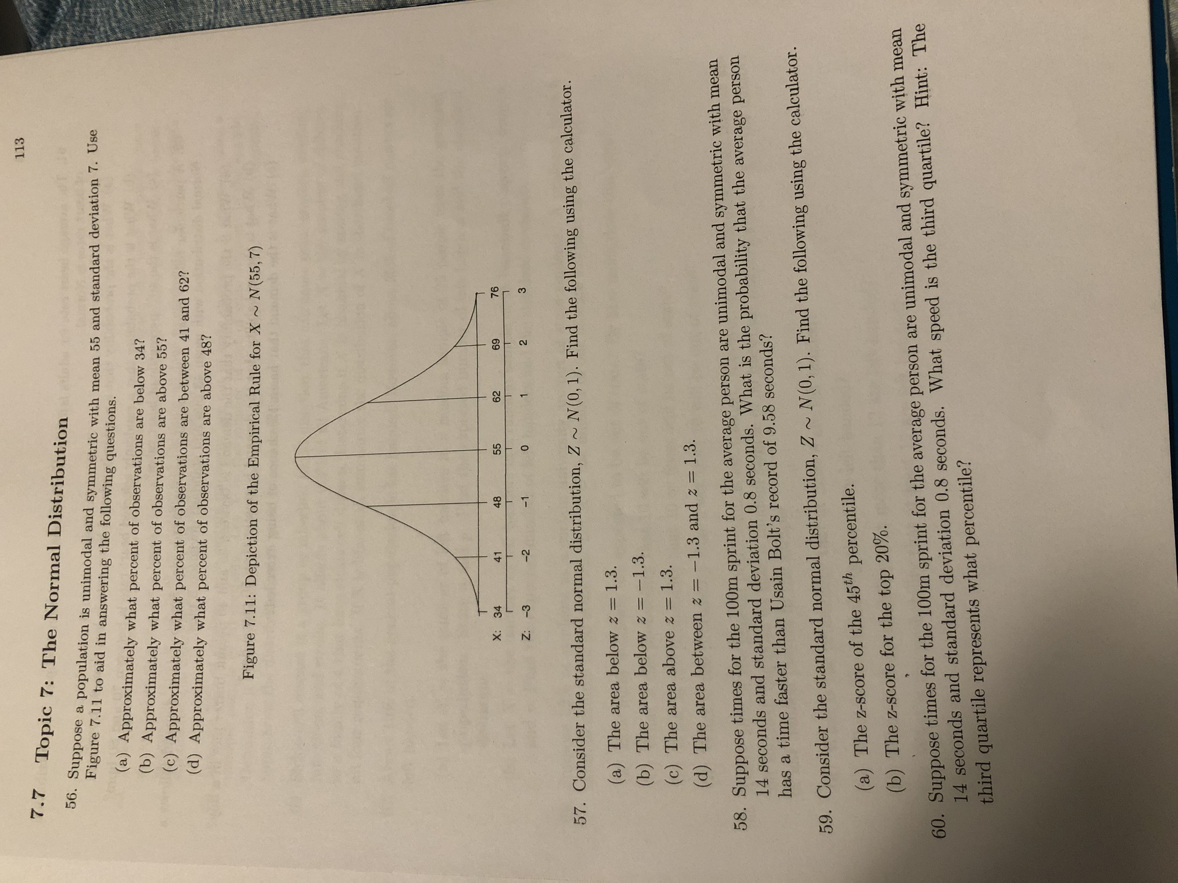 Answered 7topic 7 The Normal