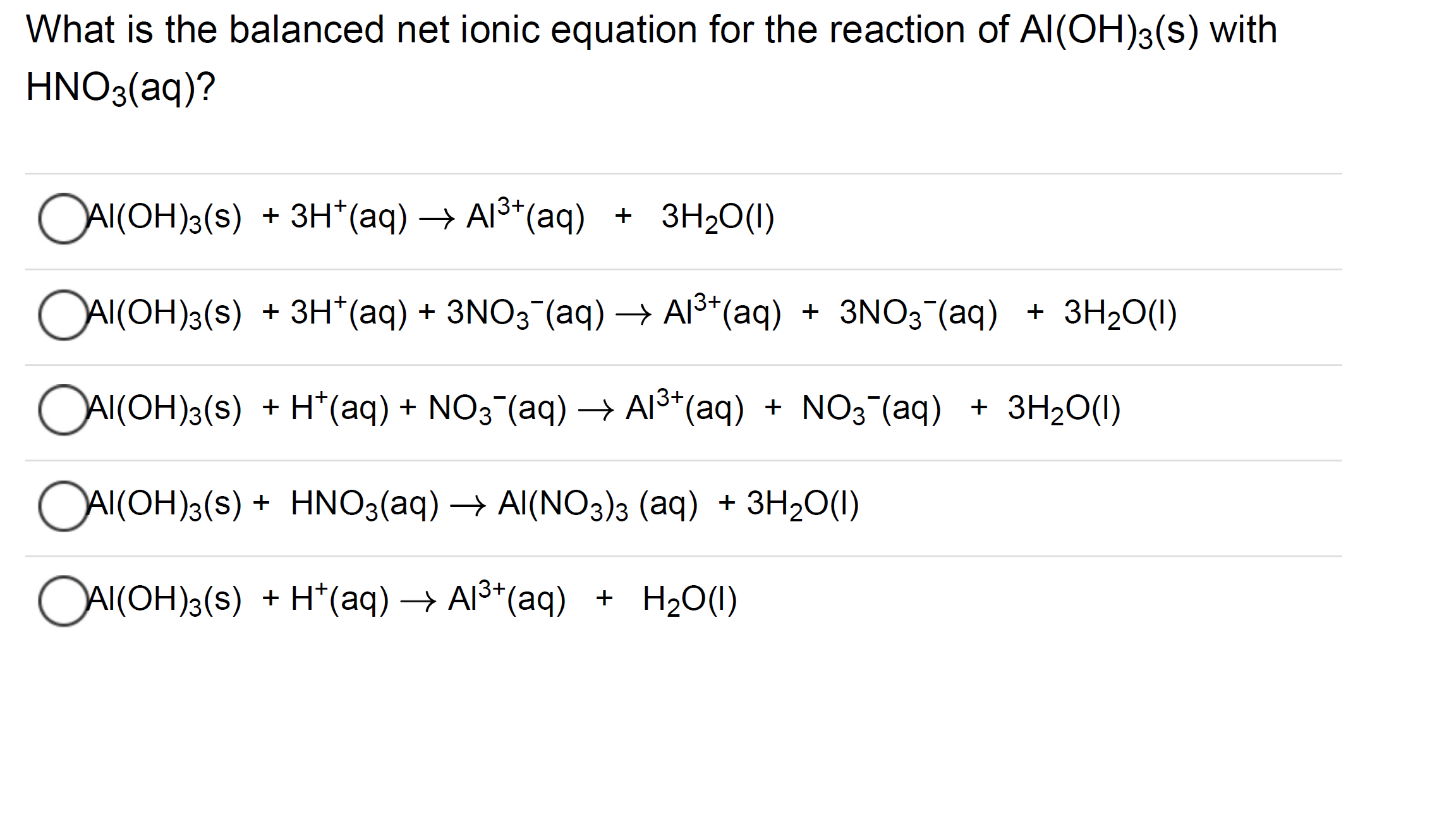 Answered What Is The Balanced Net Ionic Equation